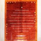 アマレ・リビングサイズ・赤色・生命の樹、動物・真上画