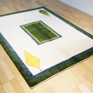 アマレ・リビングサイズ・白色、緑色・窓、糸杉・使用イメージ画