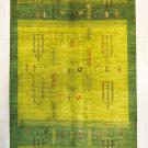 アマレ・リビングサイズ・緑色・生命の樹、孔雀・真上画