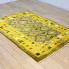 カシュクリ・センターサイズ・緑色・ジグザグ、正方形、花鳥・使用イメージ画