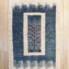 アマレ・150×102・青・生命の樹・鳥・窓・センターラグサイズ・真上画