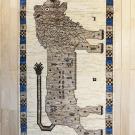 アマレライオン・167×100・ベージュ・原毛・ライオン・王様・センターラグサイズ・真上画
