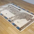 アマレライオン・167×100・ベージュ・原毛・ライオン・王様・センターラグサイズ・使用イメージ画