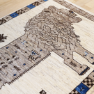 アマレライオン・167×100・ベージュ・原毛・ライオン・王様・センターラグサイズ・アップ画