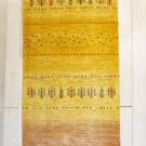 カシュクリ・165×61・黄色・木・砂漠・キッチンサイズ・廊下敷き・真上画