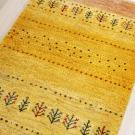 カシュクリ・165×61・黄色・木・砂漠・キッチンサイズ・廊下敷き・アップ画