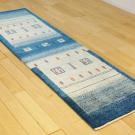 カシュクリ・197×59・青・グラデーション・ラクダ・木・玄関サイズ・廊下敷き・使用イメージ画