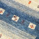 カシュクリ・197×59・青・グラデーション・ラクダ・木・玄関サイズ・廊下敷き・アップ画