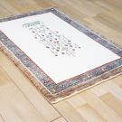 カシュクリ・117×83・ベージュ・茶色・生命の樹・鳥・玄関サイズ・使用イメージ画