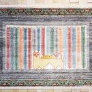 ルリバフ・83×120・ミックス・カラフル・ライオン・生命の樹・玄関サイズ・真上画