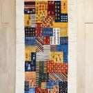 カシュクリ・121×65・カラフル・ベージュ・パッチワーク・小花・木・女の子・鹿・玄関サイズ・真上画