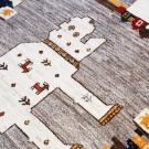 アマレライオン・玄関マットサイズ・白色・カラフル・パッチワーク・鹿・木・アップ画