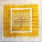 アマレ・リビングサイズ・黄色・生命の樹・鹿・窓・真上画