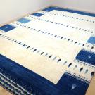 カシュクリ・304×202・青・ベージュ・杉・リビングサイズ・大型ルームサイズ・使用イメージ画