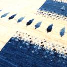 カシュクリ・304×202・青・ベージュ・杉・リビングサイズ・大型ルームサイズ・アップ画