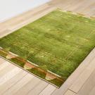 アマレ・179×119・緑・キャラバン・ラクダ・センターラグサイズ・リビングサイズ・使用イメージ画