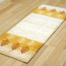 アマレ・141×53・ベージュ・黄色・木・キッチンサイズ・廊下敷き・使用イメージ画