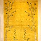 アマレ・リビングサイズ・黄色・生命の樹・鹿・真上画