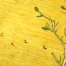 アマレ・リビングサイズ・黄色・生命の樹・鹿・アップ画