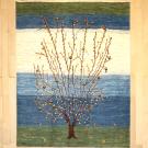 カシュクリ・センター、リビングサイズ・白色・青色・生命の樹・真上画