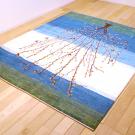 カシュクリ・センター、リビングサイズ・白色・青色・生命の樹・使用イメージ画