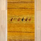 アマレ・廊下、キッチンサイズ・黄色・キャラバン・鹿・木・真上画