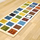 アマレ・廊下・キッチンサイズ・カラフル・格子状・パッチワーク・使用イメージ画