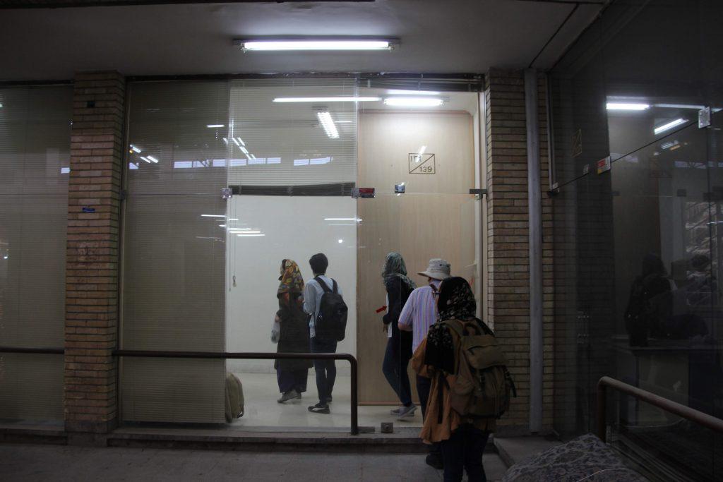 イスファハーンにあるシャハーブプール工房の店舗入り口