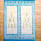 アマレ・リビングサイズ・白色・水色・木・窓・真上画