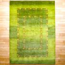 アマレ・242×173・緑・ラクダ・グラデーション・リビングサイズ・真上画