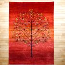 ルリバフ・237×168・赤・グラデーション・ザクロ・花・リビングサイズ・真上画