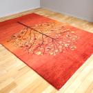 ルリバフ・237×168・赤・グラデーション・ザクロ・花・リビングサイズ・使用イメージ画