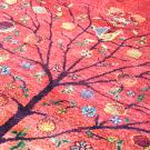 ルリバフ・237×168・赤・グラデーション・ザクロ・花・リビングサイズ・アップ画