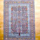 ルリバフ・237×176・生命の樹・水色・花・リビングサイズ・真上画