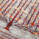 ルリバフ・237×176・生命の樹・水色・花・リビングサイズ・アップ画