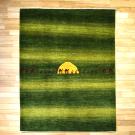 アマレ・リビング、センターサイズ・緑色・ラクダ・キャラバン・太陽・真上画
