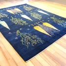 ルリバフ・大型ルーム、リビングサイズ・青色・糸杉・生命の木・使用イメージ画