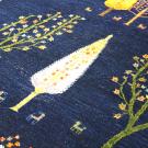 ルリバフ・大型ルーム、リビングサイズ・青色・糸杉・生命の木・アップ画