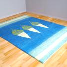 アマレ・リビング、センターサイズ・青色、白色・糸杉・使用イメージ画