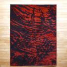 ルリバフ・リビング、センターサイズ・赤色、黒色・ヨーロピアンデザイン・真上画