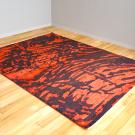 ルリバフ・リビング、センターサイズ・赤色、黒色・ヨーロピアンデザイン・使用イメージ画