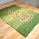 ルリバフ・リビング、センターサイズ・緑色、グラデーション、ザクロ、生命の樹・使用イメージ画