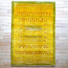 アマレ・179×121・黄色・羊・窓・木・センターラグサイズ・真上画