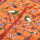 ルリバフ・125×81・生命の樹・赤・鳥・花・玄関サイズ・アップ画