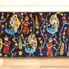ルリバフ・46×104・茶色・女の人・孔雀・植物・花・その他サイズ・真上画