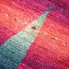カシュクリ・その他サイズ・赤色、緑色・糸杉、鹿・アップ画