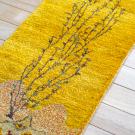 カシュクリランドスケープ・その他サイズ・黄色・生命の樹、山、鳥、鹿・アップ画