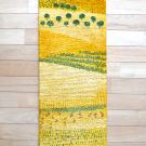 カシュクリランドスケープ・126×38・黄色・木・山・風景・草原・キッチンサイズ・その他サイズ・真上画