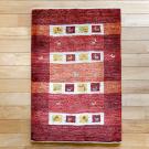 アマレ・90×62・赤・羊・ヤギ・四角・植物・玄関サイズ・真上画