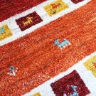 アマレ・90×62・赤・羊・ヤギ・四角・植物・玄関サイズ・アップ画